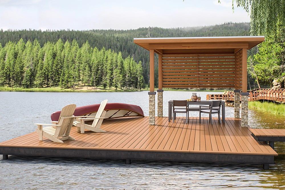 Deckorators Frontier Series Decking | Deckorators Frontier Praire Decking | Composite Dock Decking | Waterproof Composite Decking