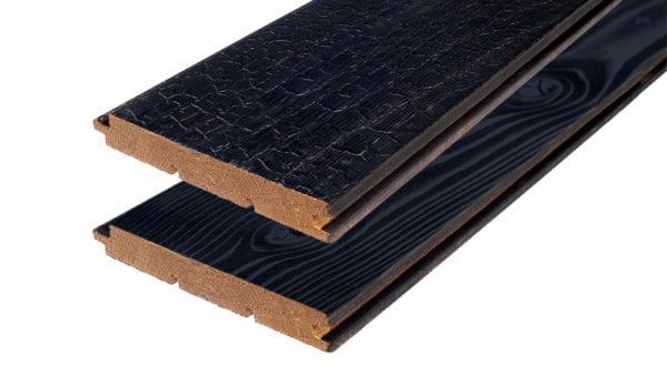 Thermory Ignite Cladding Texture | Dragon Scale Wood Texture | Charred Timber Cladding Texture