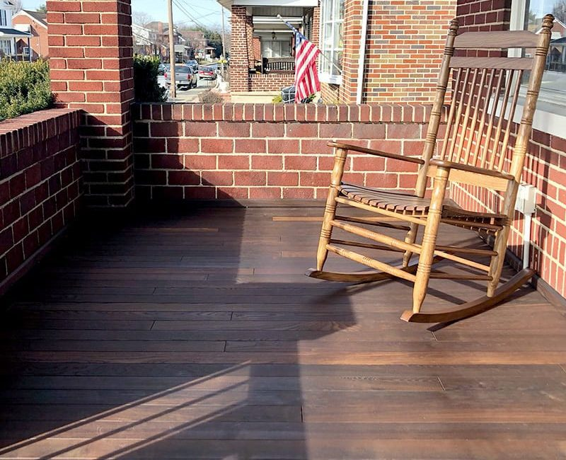 Thermory Porch Flooring Distributor   Thermally Modified Ash Porch Flooring   Thermally Modified Wood Porch Flooring