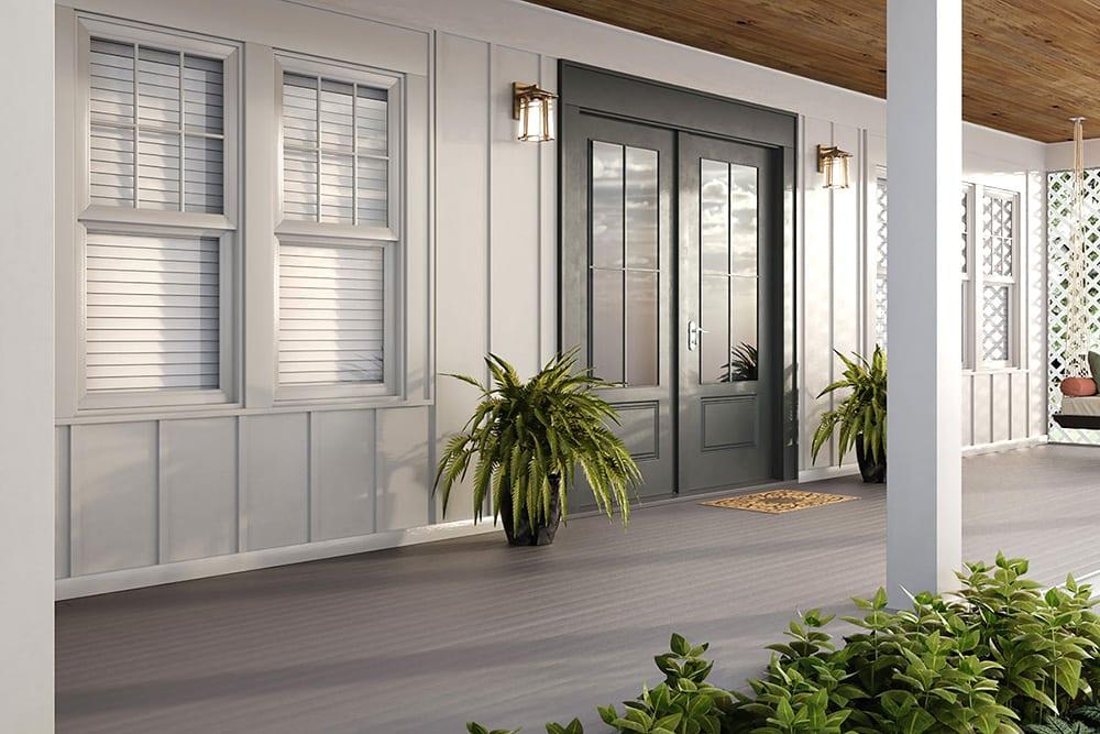 Deckorators Porch Flooring | Deckorators Eovations Porch Flooring | Decorators Kettle Gray Porch | Composite Porch Flooring