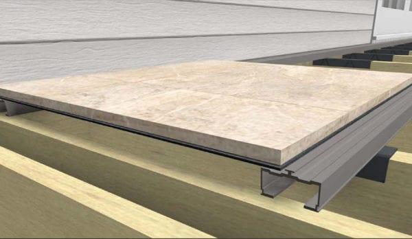 Precision Cut Porcelain Deck Tiles | MBrico Porcelain Decking | Easy Install Tile Decking System | MBrico Decking Distributor
